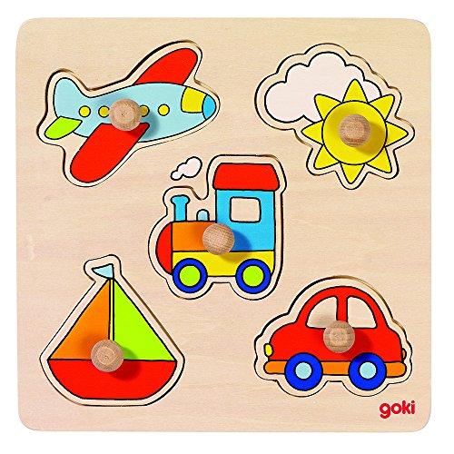 Puzzles de Madera Encaje Viaje, Basic, Multicolor (57547)
