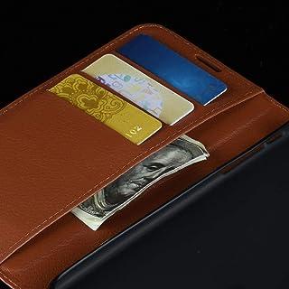 ハードケース 財布&ホルダー&カードスロットとOPPO RENO2ライチテクスチャ水平フリップレザーケース用 (色 : Blue)