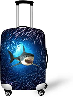 HUGSIDEA Fashion Shark Pattern Luggage Protective Covers for 26-30 Inch Suitcase