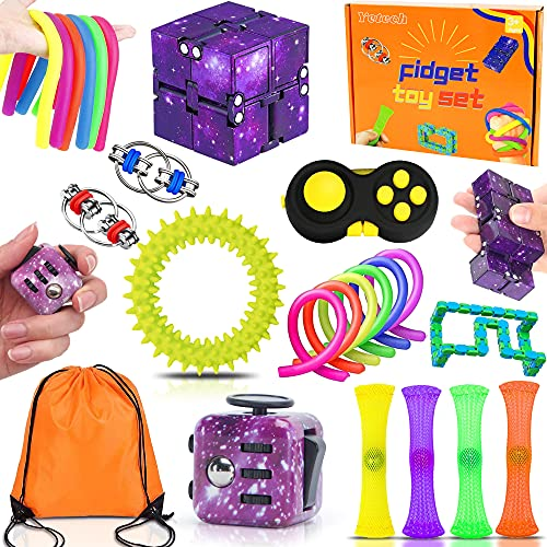 LifenC Fidget Toys Set Sensory Toys for Autism, ADHD, Stress Relief, Anti-Anxiety Toys Birthday Christmas Gift for Children, Teen, Student, Adult