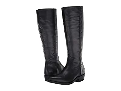 Frye Billy Inside Zip Tall (Black Full Grain Leather) Women