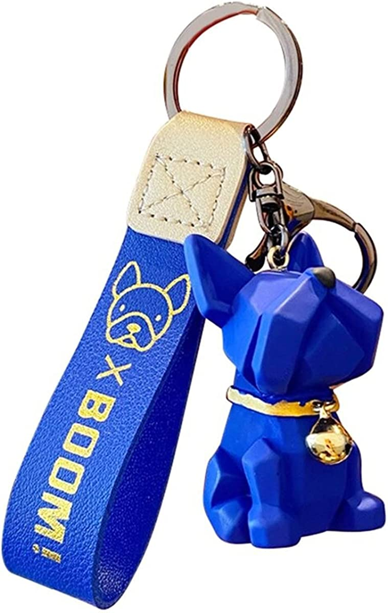 DouDouFam-Cute Pet Dog French Keychain Bulldog wit Resin OFFicial mail At the price of surprise order