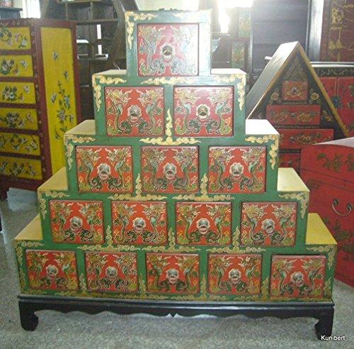 Antiker Chinesischer Schrank China Apothekerschrank Tibet Asiatika Asien Breite110xHöhe110cm Asienschrank Asiatikaschrank Tibetschrank