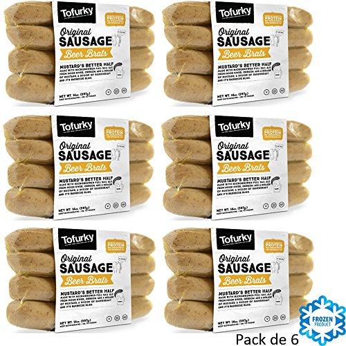 TOFURKY BEER BRAT SALCHICHAS 250g VEGANO Pack de 6