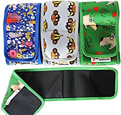 FunnyDogClothes Set - 3pcs Dog Diaper for Male Belly Band Reusable Washable Neoprene for Small and Big Large Dogs