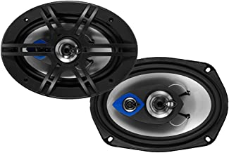 Planet Audio PL69 6 x 9 Inch Car Speakers - 400 Watts of Power Per Pair, 200 Watts Each, Full Range, 3 Way, Sold in Pairs