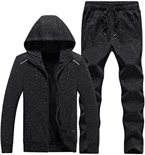 46d26eff3f2ca4 TOP Fighting 2019 Mens Plus Size Tracksuit Warm Fleece Sport Hooded  Sweatshirt Coat Hoodies+Pants