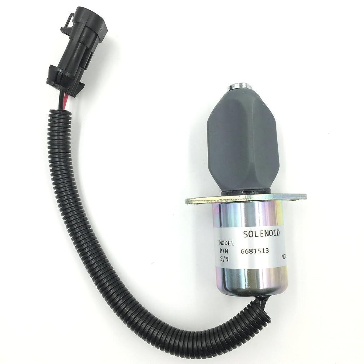 Fuel Shut Off Solenoid 6681513 for Kubota Bobcat Skid Steer S150 S160 S175 S185 T190 751