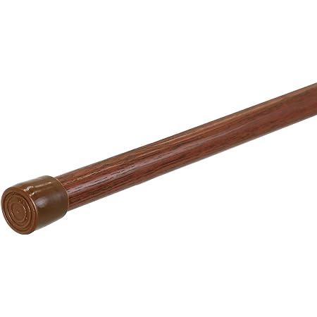 SunnyDayFabric テンションポール つっぱり棒 木目調ブラウン L 巾120~200cm 直径1.7cm 1本