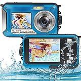 iSunFun Macchina Fotografica Subacquea, Fotocamera Subacquea Digitale 48MP Full HD 2.7K, Doppio...