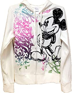 6b13d5f1555 Disney Junior Women Ornate Mickey Mouse Zip Up Hoodie