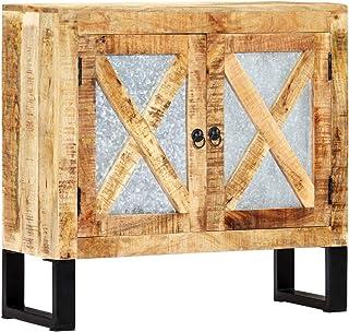 vidaXL Mango Aparador Comedor Madera Maciza Industrial Vintage Retro Diseño Rústico Mueble Buffet Salón Cocina 2 Puertas A...