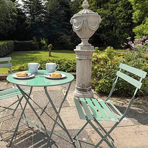 Opulence Trading - Juego de bistró plegable (2 asientos), color verde salvia