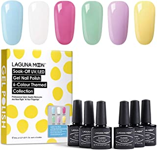 Lagunamoon Esmaltes Semipermanentes 6pcs Kit de Uñas en Gel UV LED - Lighten the mood