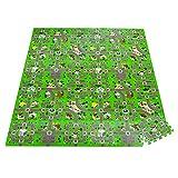 HOMCOM Alfombra Puzzle Infantil con 36 Piezas 31,5x31,5 cm Juego Rompecabezas Infantil Modelo Carreteras de Espuma EVA �rea de Cobertura 3,24 m² Multicolor