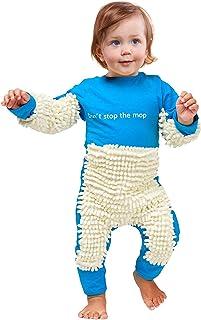 SUCCESS Neugeborenes Baby Junge Mädchen Kriechen Kleidung Reinigungsmop Overall Brief Drucken Onesie Strampler Jumpsuit Mop Schlafstrampler Kleinkind Kinder Spielanzug Schneeanzüge zum Krabbeln