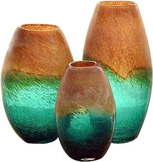 Color : Silver, Size : 12 * 35cm Vases Visage Verre Restaurant /À Domicile Fleur Arrangeur D/écoration De La Maison Ornements Artisanat