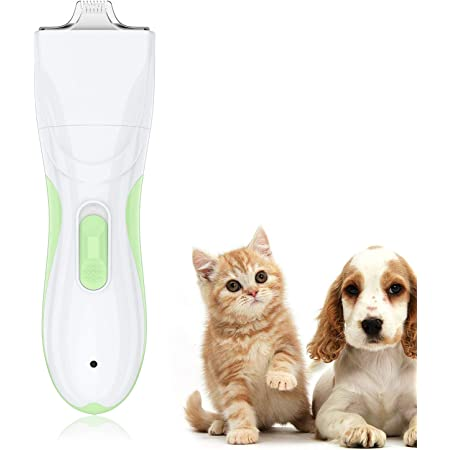 TURN RAISE Professional Dog Grooming Clippers,Washable Dog Shaver Clippers Low Noise Rechargeable Electric Quiet Dog Hair Clipper with Detachable Ceramic Blade for Dogs and Cats,Eyes,Face,Ears,Paw