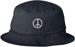 Adult Peace Sign Embroidered Bucket Cap Dad Hat