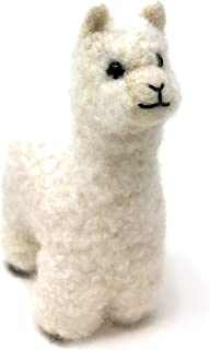 Felted Lifelike Alpaca Figure & Ornament, Handmade from 100% Alpaca Wool Yarn