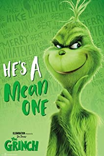 The Grinch - Movie Poster (Grinch Solo - He's A Mean One) (Size: 24