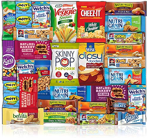 Healthy Snacks Care Package (Count 30) - Discover a whole new world of Healthy Snacks - Snack Variety Gift Basket Women Men Adult Kid Teens Office