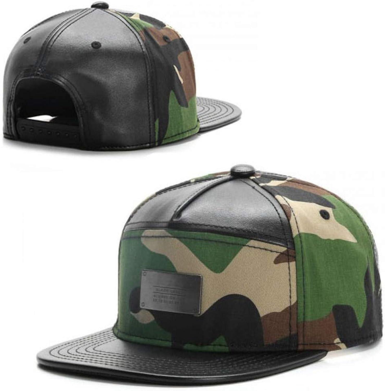WYKDA Brand BL Cap Cap Camouflage Leather Hip hop Snapback hat for Men Women Adult Outdoor Casual Sun Baseball Cap Bone
