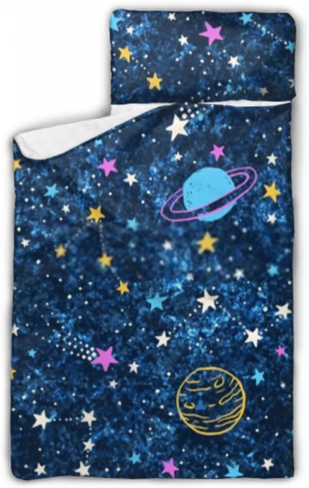 JIUCHUAN Kids Sleeping Bag Space Dark Blue Mat with Challenge the lowest price Textured Nap Bargain