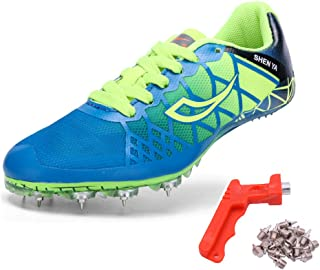 Mens Womens Boys Girls Spikes Athletics Racing Running Shoes Track and Field Sneaker …