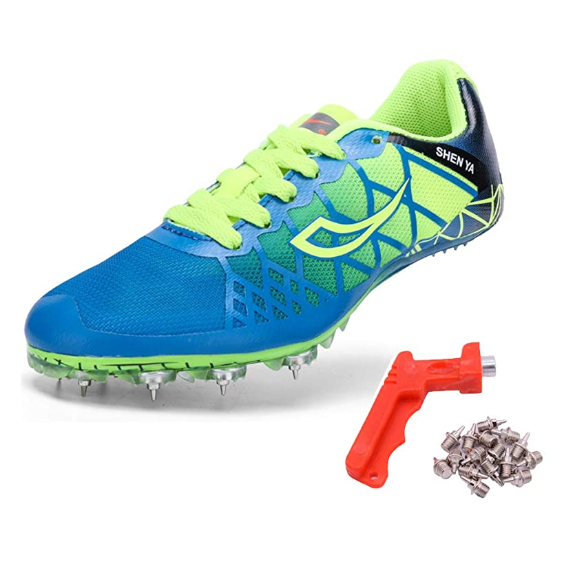 Ifrich Mens Womens Boys Girls Spikes Athletics Racing Running Shoes Track and Field Sneaker …