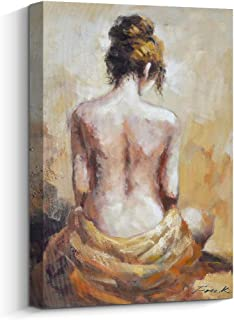 Pigort Sexy Wall Art Nude Woman Back Painting Hand Painted on Canvas Print Contemporary/Modern Wall Decor