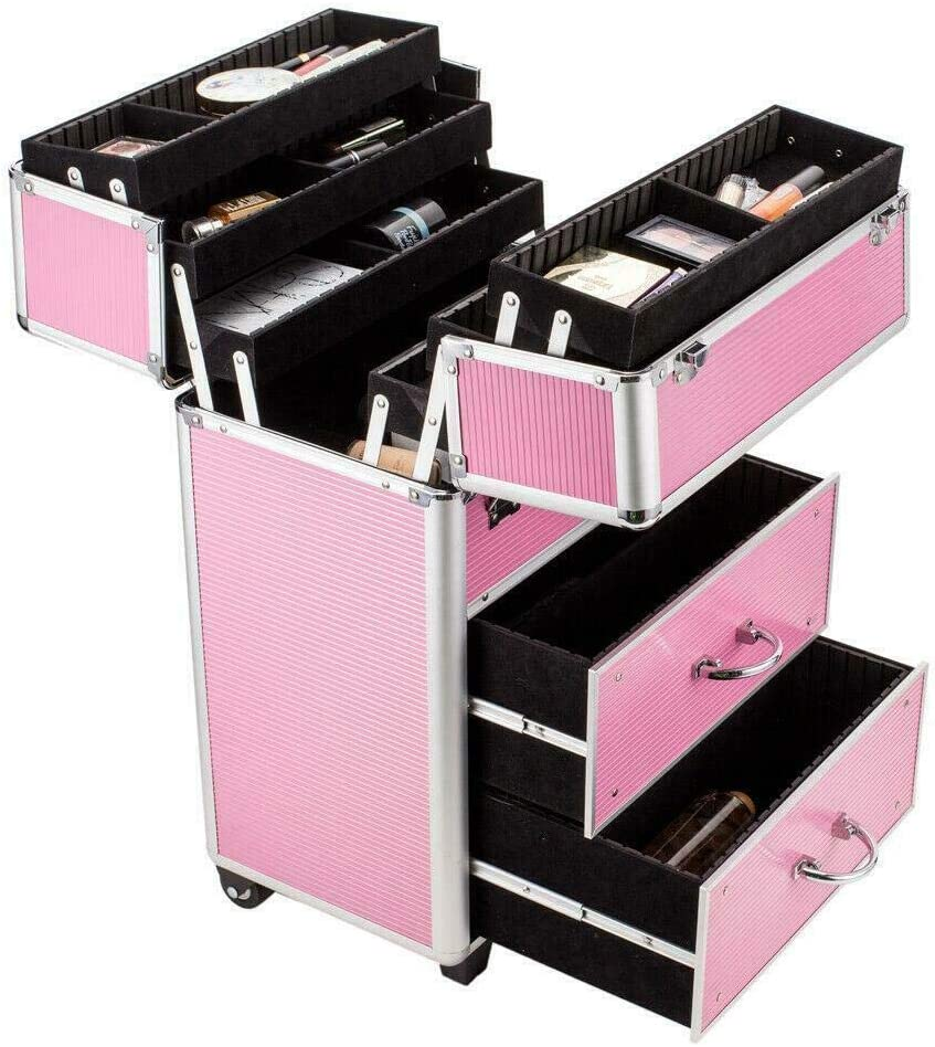 Store Zedfire Pro Rolling Aluminum Makeup Box Train Animer and price revision Trolley St Case