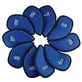 Andux Cubiertas de malla de hierro de golf con número en ambos lados 10pcs/set