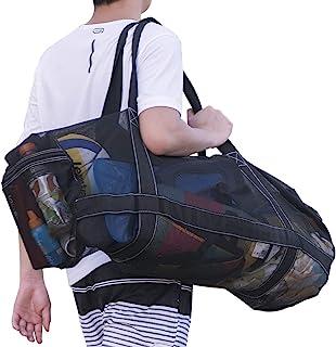حقيبة الغوص الشبكية XXL لغوص أو الغوص - حقائب معدات الغوص - حقائب كبيرة جدًا وحقائب مع سحاب وجيوب - حقيبة شاطئ كبيرة الحجم...