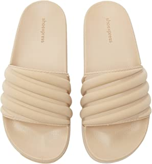 Shoexpress Womens Quilted Slip-On Slides