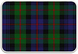 YGUII Murray of Atholl 3 Clan Family Tartan Durable, All-Natural Grade Door Mat,Indoor Outdoor Mats, Waterproof, for Inside/Outside, Low-Profile, Easy Clean