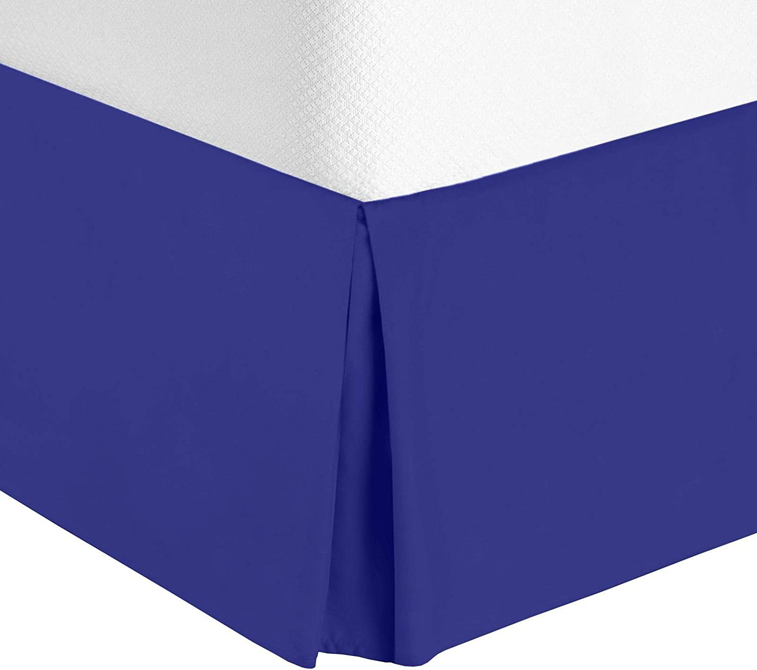 """Luxury Louisville-Jefferson County Mall Pleated Bed Skirt - 14"""" XL Royal Blue New products world's highest quality popular Ruffle Fitt Twin"""