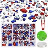 MWOOT 700 Piezas Diamantes de Acrílicas para Decorar Prendas Ropa...