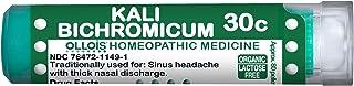 OLLOIS Organic & Lactose-Free Kali Bichromicum 30C, Homeopathic Medicine, 80 Pellets Count for Sinus Headache, Thick Nasal...