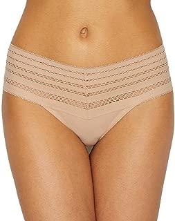 DKNY Men's Classic Cotton Wide Lace Trim Thong