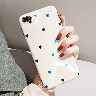 BONTOUJOUR iPhone XS Max Phone Case, Beautiful Art Little Heart Pattern Serie Cover Case Soft TPU 360 Degree Good Protection- White Little Heart