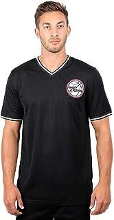 Ultra Game NBA Men`s Jersey V-Neck Mesh Short Sleeve Tee Shirt