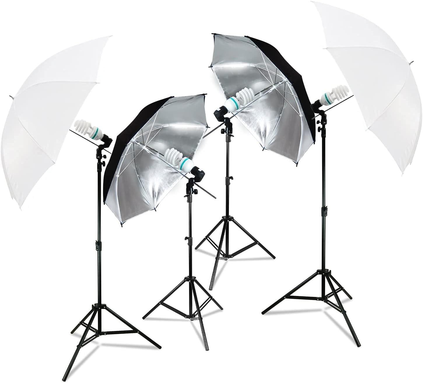 LimoStudio Set Arlington Mall Albuquerque Mall of 2 White and Black Umbrella Lighting K Silver