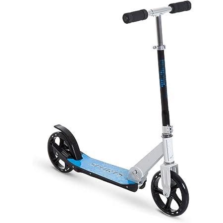 HOMCOM Patinete para Niños y Adultos Scooter Plegable Plegable Manillar Ajustable Marco Aluminio Ligero y Estable Carga 80kg Aluminio 84x34x86-96 cm ...