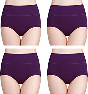 wirarpa Women's Soft Cotton Briefs Underwear Breathable High Waist Full Coverage Ladies Panties Multipack