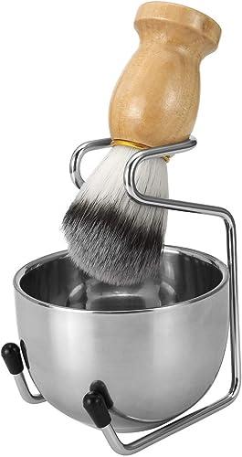 new arrival CCbeauty Men's Wet Shaving Kit, Badger Hair Shaving Brush, Stainless lowest Steel Shaving Stand, Shaving Bowl outlet sale & Razor Holder, 3 Pieces outlet sale
