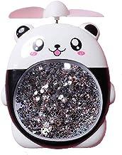 Hui Jin Veilleuse Portable USB Rechargeable Mignon Cartoon Animal Chat Quicksand Ventilateur de table Panda
