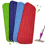 4 unidades fregona de polvo de microfibra lavable almohadillas de...