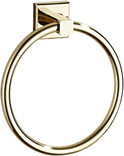 Towel Ring Gold, Bathroom Hand Towel Ring Brass Hanger Holder Wall Mount Gold Plating