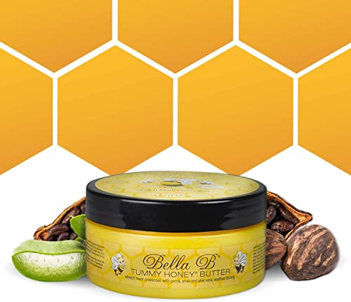 BELLA B Tummy Honey Butter 4 oz 1 Pack - Tummy Butter with Natural & Organic Ingredients - Pregnancy & Baby Safe - Us...